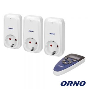 Conjunto 3 Tomadas Elétricas C/ Comando S/ Fios Digital ORNO - (OR-GB-434(GS))
