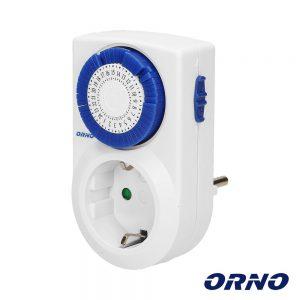 Temporizador Analógico Ajustável 24h ORNO - (OR-PRE-427(GS))