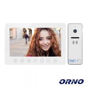 "Vídeo Porteiro C/ Lcd 7"" Cores LEDS Branco ORNO - (OR-VID-EX-1057/W)"