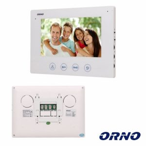 "Monitor P/ Vídeo Porteiro 7"" Branco CERES ORNO - (OR-VID-ME-1056MV/W)"