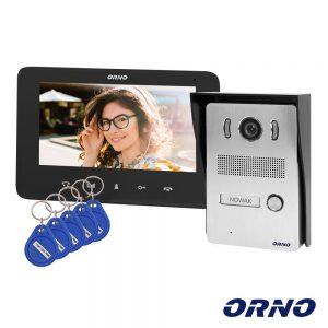 "Vídeo Porteiro C/ Lcd 7"" Cores E Leitor RFID Preto ORNO - (OR-VID-VP-1069/B)"