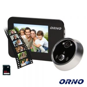 """Vídeo Porteiro C/ LCD 3.5"""" Cores C/ Função Gravação ORNO - (OR-WIZ-1102)"""
