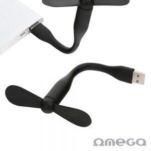 Mini Ventoinha Silicone Flexível USB 5v OMEGA - (OUFU)