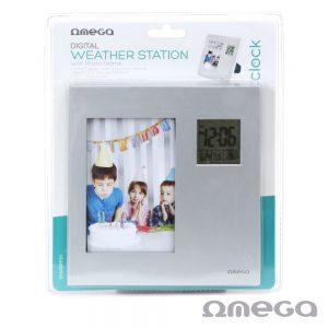 Estação Meteorológica C/ Alarme E Moldura 85x125mm OMEGA - (OWSPF01)