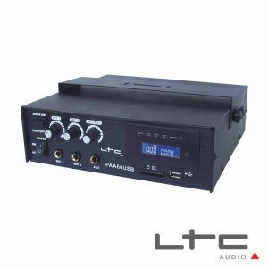 Amplificador 3 Canais Pa 70v 12/220v 60W USB/SD Ltc - (PAA60USB)