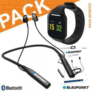 Pack Sport C/ SmartWatch E Auscultadores Bluetooth BLAUPUNKT - (PACK SPORT07)