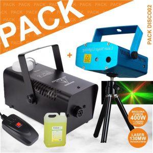 Pack Disco Vsfumos400a+lasermini130+smoke5l-N - (PACK DISCO02)