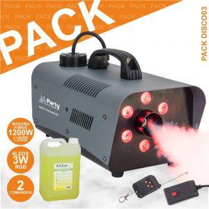 Pack Disco PARTY-Fog1200led+smoke5l-N - (PACK DISCO03)