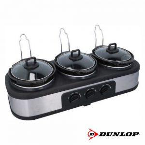 Panela Elétrica 3 Compartimentos 300W 3x1.3l Dunlop - (DUN750)