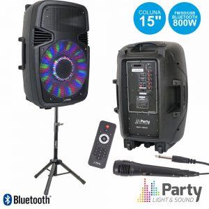 "Coluna Amplificada 15"" 800W USB/BT/SD Suporte/Micro PARTY - (PARTY-15PACK)"