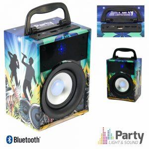 Coluna Bluetooth Portátil 10W USB/SD/FM/Aux/Bat PARTY - (PARTY-DISCO1)