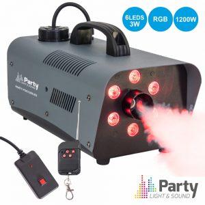 Máquina De Fumos 1200W 6 LEDS 3W RGB PARTY - (PARTY-FOG1200LED)
