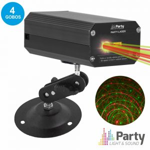 Laser Vemelho/Verde C/4 Gobos PARTY - (PARTY-GOBOLASER)