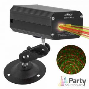 Laser 120mW Vermelho/Verde Mic PARTY - (PARTY-LASER)