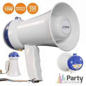 Megafone 10W C/Gravação De Voz Memória Interna PARTY - (PARTY-MEGACUP)