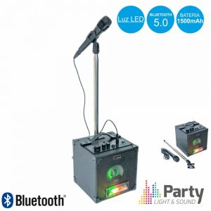 Conjunto Coluna c/Bluetooth e Microfone c/Suporte PARTY - (PARTY-SINGER)