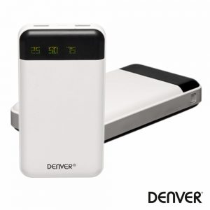 PoWerbank 12000ma C/ Ficha Micro USB 2USB DENVER - (PBA-12000)