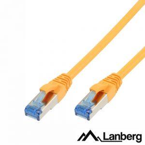 Cabo S/FTP LSZH CAT6A 1.5m Amarelo LANBERG - (PCF6A-10CC-0150-Y)