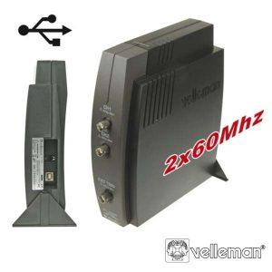 Osciloscópio De 2 Canais P/ Pc Conexão USB VELLEMAN - (PCSU1000)
