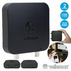 Osciloscópio 2 Canais P/ Pc USB C/ Gerador Sinais VELLEMAN - (PCSU200)