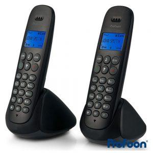 Conjunto 2 Telefones S/ Fios Preto PROFOON - (PDX-315 DUO)