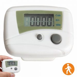 Pedómetro C/ Lcd 99999 Contagens Branco - (PED116)