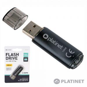 Pen USB 128GB Preto X-Depo PLATINET - (PMFE128)