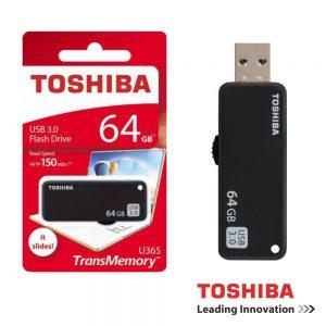 Pen USB 64GB Preto Toshiba - (PEN64GB-THN-BK)