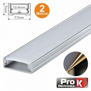 Perfil De Alumínio P/ Fita LEDS 2m PROK - (PAFL02AN)