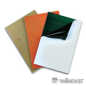 Placa Ci Fotosensível Fibra Vidro 1 Lado 100x220mm VELLEMAN - (PFS2)