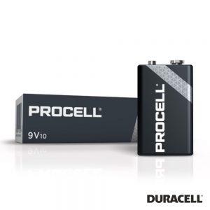 Pilha Alcalina 9V/6LR61 10X Industrial PROCELL - (PAD-INDPRO9V)