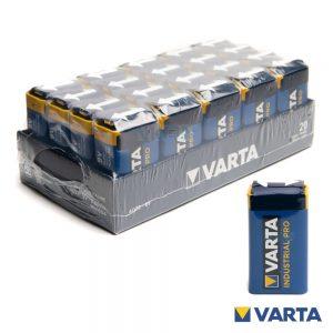 Pilha Alcalina 9V/6LR61 20X Industrial VARTA - (PAV-IND9V)