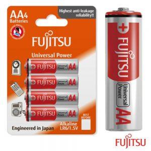 Pilha Alcalina LR6/AA 1.5v 4x Blister Fujitsu - (FUJITSU-AA/4)