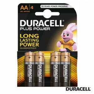 Pilha Alcalina LR6/AA 1.5V 4x Blister DURACELL Plus Power - (PAD-LR6/4)