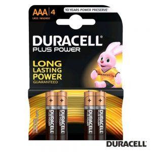 Pilha Alcalina LR03/AAA 1.5V 4x Blister Plus Power DURACELL - (PAD-LR03/4)