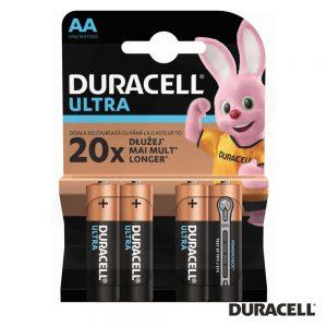 Pilha Alcalina LR6/AA 1.5V 4x Blister Ultra DURACELL - (PAD-LR6/4U)