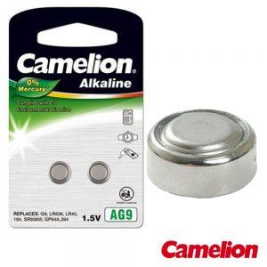 Pilha Botão Alcalina Ag9 / LR936 1.5v 2x Blister CAMELION - (AG9-BP2)