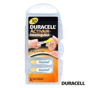 Pilha Botão DA10 Hearing Aid 6x Blister DURACELL - (PZD-DA10)