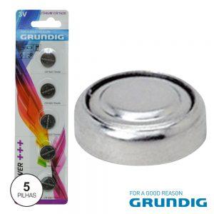 Pilha Lithium Botão Cr1620 3v 70ma 5x Blister Grundig - (53892)