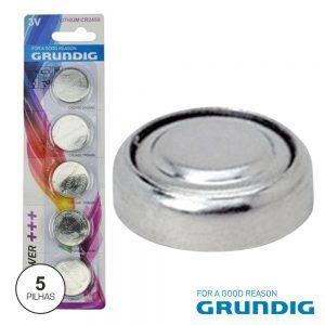 Pilha Lithium Botão Cr2450 3v 560ma 5x Blister Grundig - (53896)
