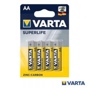 Pilha Zinco-Carvão R6/AA 1.5v 4x Blister VARTA - (PCV-R6/4)
