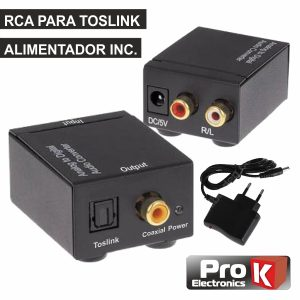 Conversor Áudio RCA-TOSLINK PROK - (PK-COAXOP)