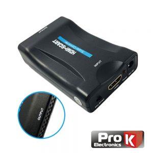 Conversor HDMI/Mhl P/ Scart 720p/1080p PROK - (PK-HDMISCART)