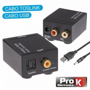 Conversor Áudio Digital P/ Analógico PROK - (PK-OPCOAX01)