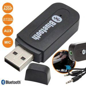 Receptor Áudio Bluetooth C/ Cabo Aux PROK - (PK-USBCARBT01)