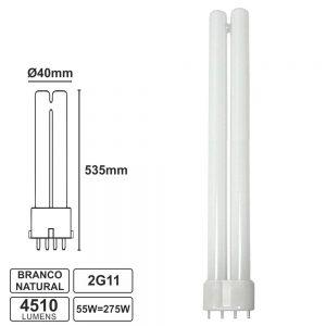 Lâmpada Pl 2g11 4 Pinos 55W 230V Branco Natural 4510lm - (PL55NW)