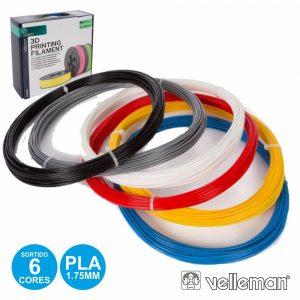 Conjunto De Filamentos P/ Impressão 3d 1.75mm 6 Cores - (ABS175SET6)