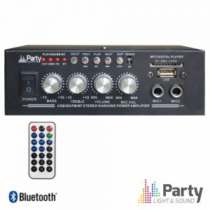 Amplificador Karaoke 2x25W 8-16 Ohm 220v/12V USB/BT/FM - (PLS1250USB-RC)