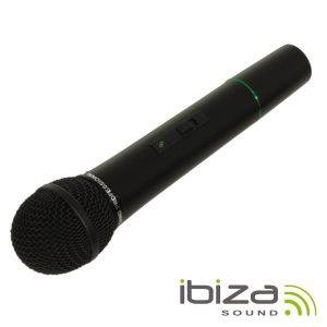 Microfone S/ Fios P/ Colunas Port 207.5mhz IBIZA - (PORTHAND12)