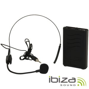 Microfone Headset S/ Fios 207.5MHz IBIZA - (PORTHEAD12-2)